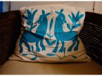 Mexican hand crafted cushion