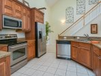 Gorgeous fully updated kitchen with granite counter tops and stainless steel appliances.