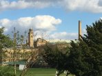 View from the house to Salts Mill and across the park.