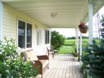 The Garden Cottage at Meadowlark Ridge.  Guests love the large covered porch and hummingbirds.