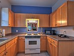 Prepare your favorite home-cooked recipes in the fully equipped kitchen.