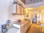 Apt. 2 features a spacious, fully equipped kitchen.