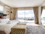 Upstairs bedroom with sea views