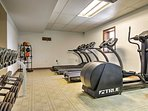 Stay true to your workout routine in this fitness center.