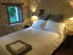 Double bedroom with quality linen and towels