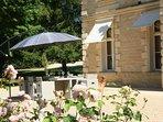 Terrasse, plein sud, déjeuner, apéritif, jardin