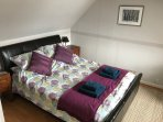 Double bed bedroom with view across Loch Fyne