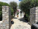 entrance to villa and small garden