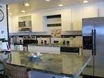 kitchen with marble top