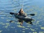3 adult and 1 child kayak