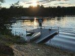 beach and fishing dock