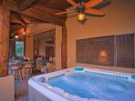 2 HOT TUBS - ONE IN THE COURTYARD AND ONE ON BACK PATIO