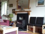Lounge Logburner & Fireplace