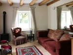 Cosy lounge with wooden beams