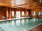 Enjoy the indoor pool if you need to get out of the sun.