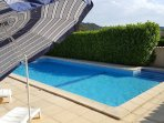 fabulous large heated pool overlooking the village