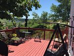 Patio furniture for your comfort. View from patio is stunning as patio is elevated about 6 feet