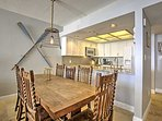 Gather around this dining table to enjoy your meals.