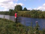 On the banks of the river Slaney, famous for fly fishing Sea trout, brown trout & Salmon