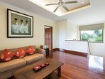 Family room (20m2, air conditioning, sofa bed, TV and DVD)