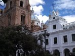 Photo of one of the 52 cathedrals in Cuenca. This is on the main square.