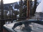 Private Hot Tub Looking Slopeside