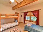Kids will love sleeping in the bunk beds!