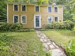 This 3-bedroom, 2-bathroom vacation rental home in Huntington was built in 1789 and sits on a quiet street on a large...
