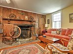 You'll find antique furnishings and several fireplaces throughout the home.