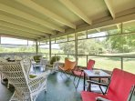 Spend your afternoons on the screened-in porch, overlooking Sunnyside Farm, Brushy Hill and Hogback Mountain, when you...