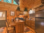 The well-equipped kitchen has everything you'll need to prepare your favorite recipes.