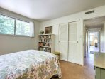 The fourth bedroom offers a full-sized bed.