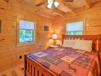 When you're ready to call it a night, retreat to 1 of 3 different bedrooms all decorated with rustic cabin accents and...