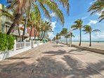 The Hollywood Beach Boardwalk spans 2.5 miles and offers over 50 restaurants, 30 boutique shops, and free live music...