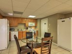 Enjoy a separate kitchen area in the basement for added privacy.