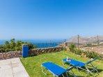 The pool terrace has amazing sea views!