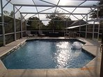 Beautiful South Face Pool with Screened Lanai