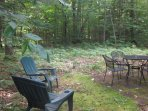 Private backyard with gas grill. Hike or cross country ski to the Saco River from the backyard