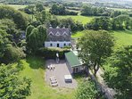 The Old Rectory and Retreat Cottage with 1 acre Garden, Huge Games/Function Room and Hot Tub