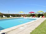 Charming gite in Poitou-Charentes with large, shared pool and garden