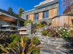 stunning cedar and schist home complementing the local alpine environment