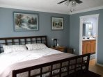 Spacious retreat with King Size bed and to the left an ensuite bathroom