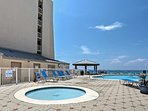 .Take a dip in the community pool to cool off from the Florida heat.