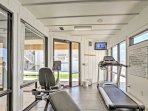 Stay in shape during your stay with this fitness room.
