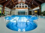 A shared indoor pool, hot tub, gym & shuttle to the slopes!