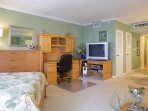 Apartment door is to Large Walk-in-Closer with furnished for easy of use.
