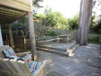 Decked area for alfresco dining