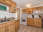 Well appointed kitchen with granite countertops...  all you need to bring is your food!