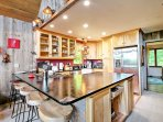 The chef in your group can look forward to working their magic in this fully equipped kitchen.
