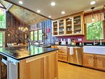 Stainless steel appliances and an abundance of counter space make cooking in this kitchen a real treat.